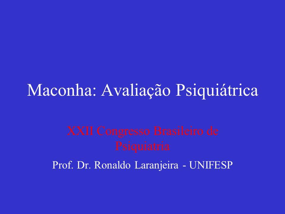 Maconha: Avaliação Psiquiátrica