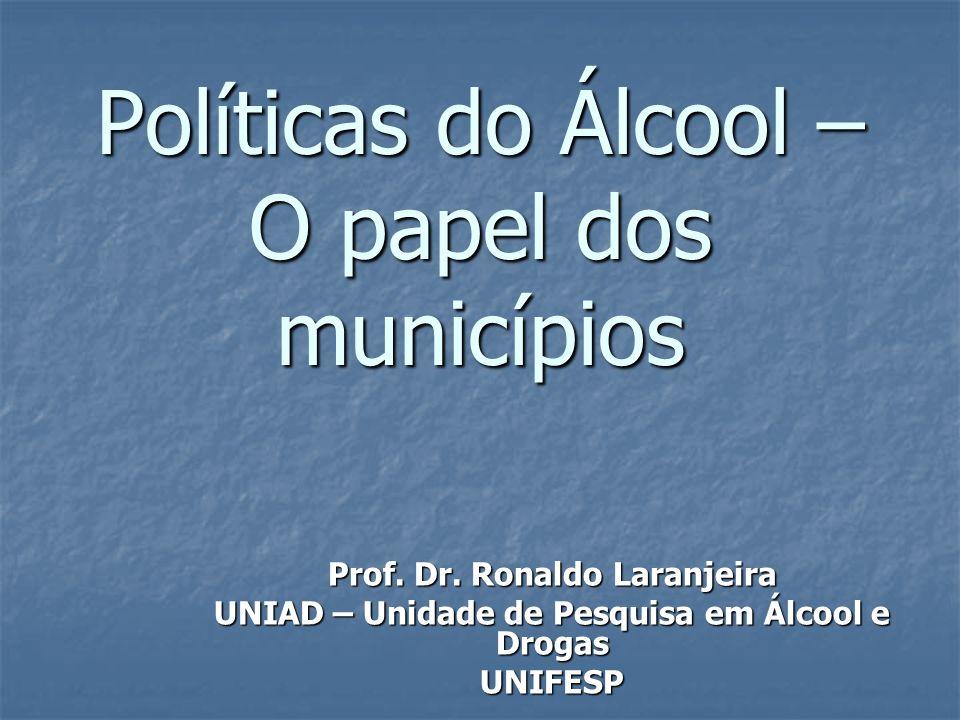Políticas do Álcool – O papel dos municípios