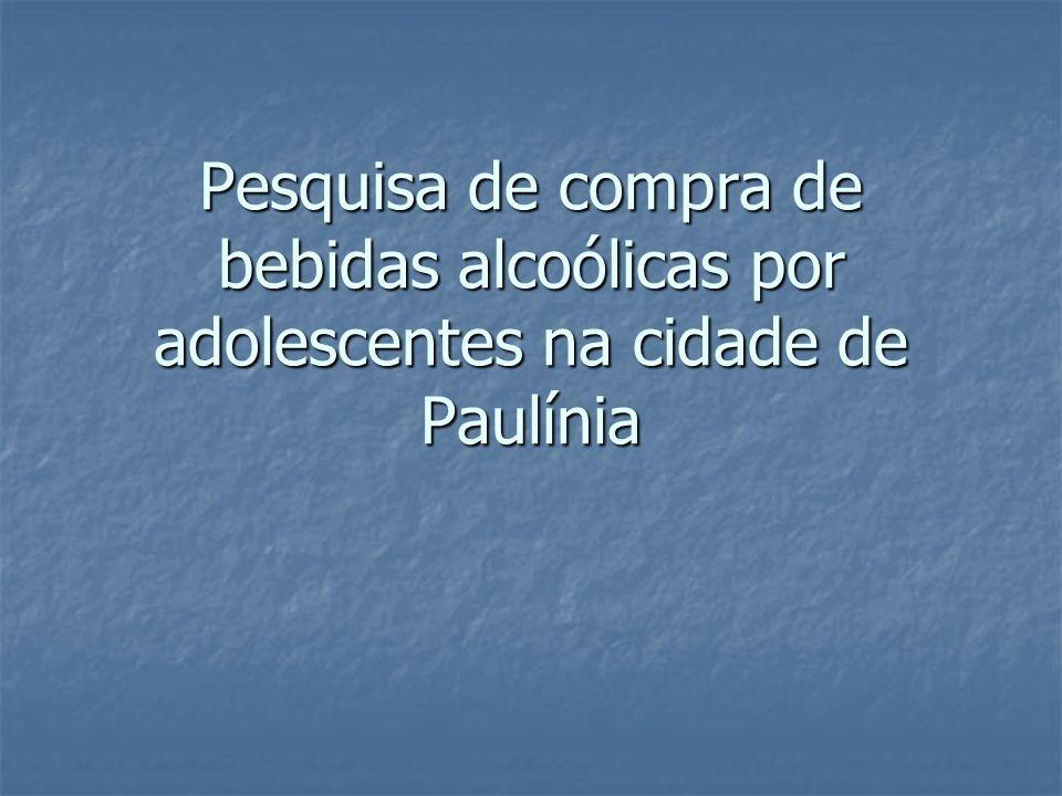 Pesquisa de compra de bebidas alcoólicas por adolescentes na cidade de Paulínia