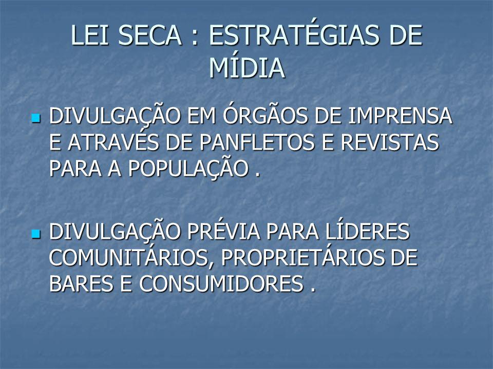 LEI SECA : ESTRATÉGIAS DE MÍDIA