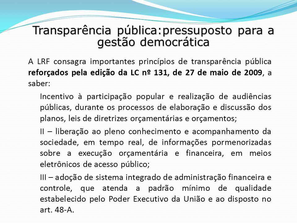 Transparência pública:pressuposto para a gestão democrática