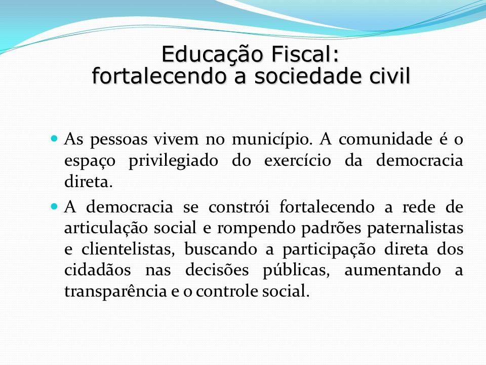 Educação Fiscal: fortalecendo a sociedade civil