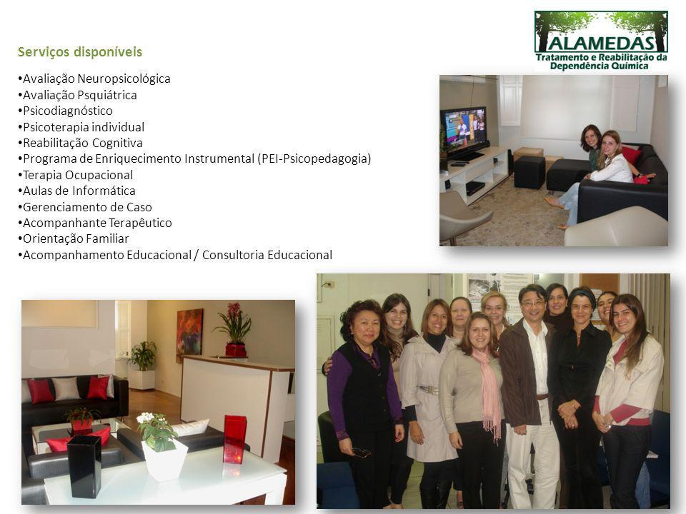Serviços disponíveis Avaliação Neuropsicológica Avaliação Psquiátrica