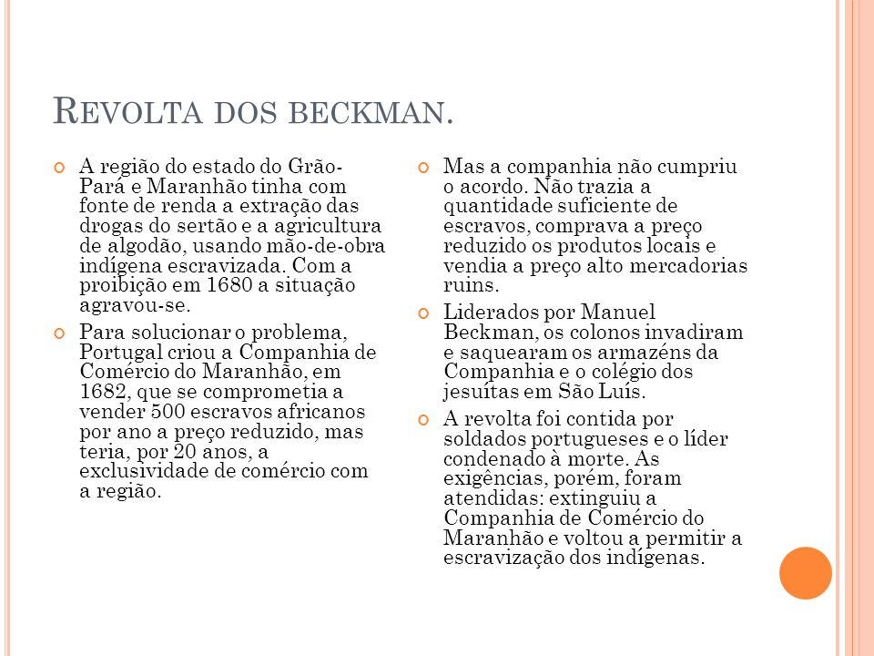 Revolta dos beckman.