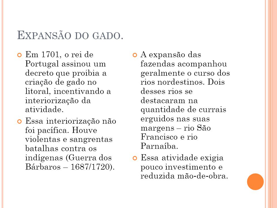 Expansão do gado.