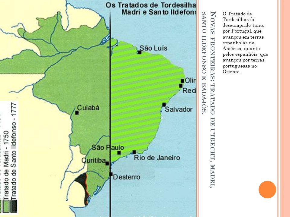O Tratado de Tordesilhas foi descumprido tanto por Portugal, que avançou em terras espanholas na América, quanto pelos espanhóis, que avançou por terras portuguesas no Oriente.