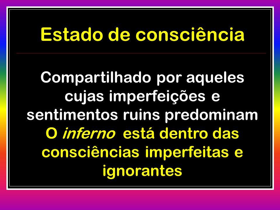 O inferno está dentro das consciências imperfeitas e ignorantes