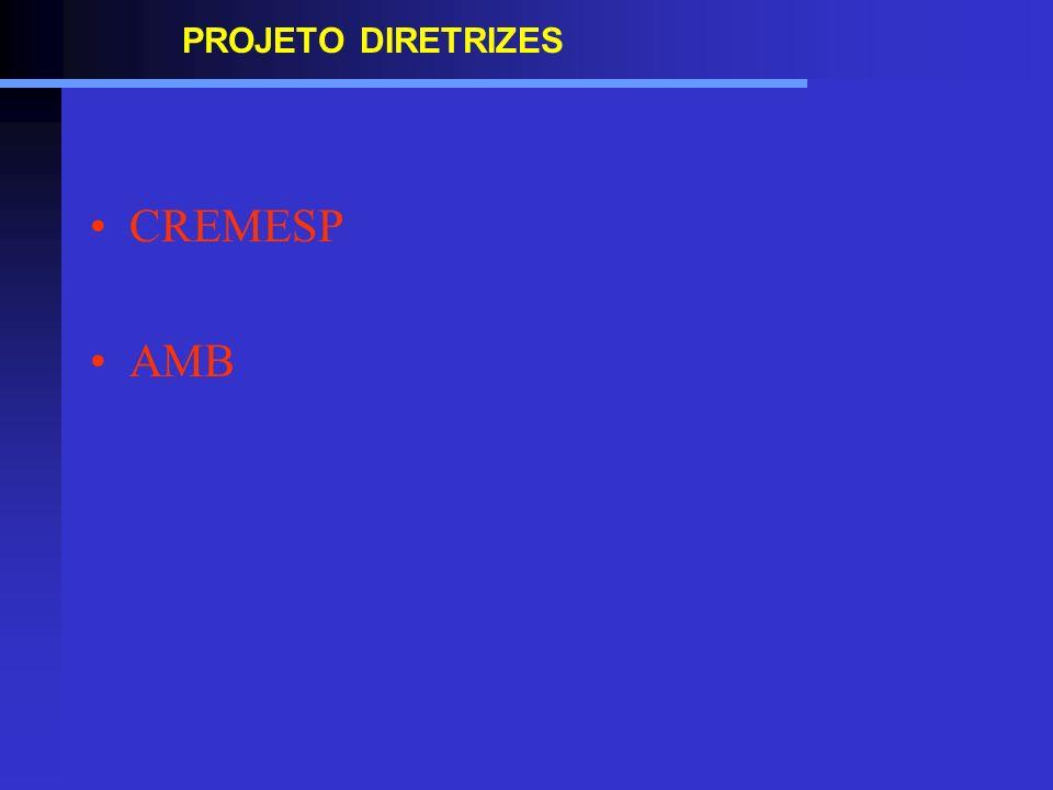 PROJETO DIRETRIZES CREMESP AMB