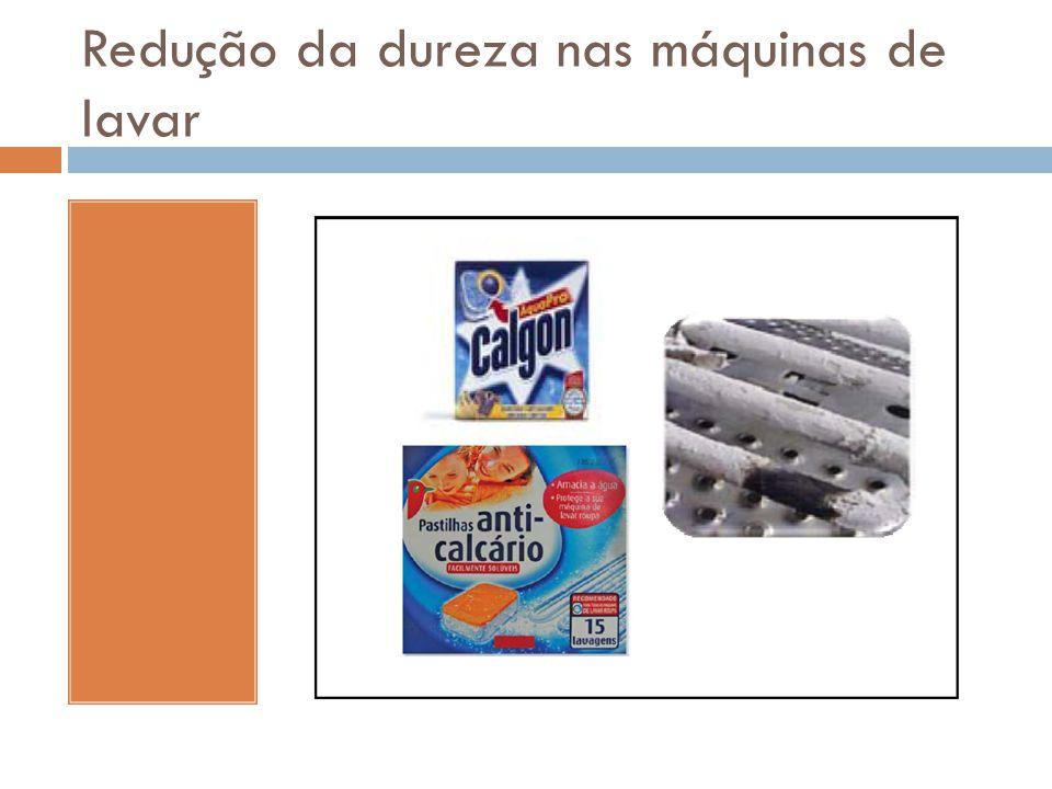 Redução da dureza nas máquinas de lavar