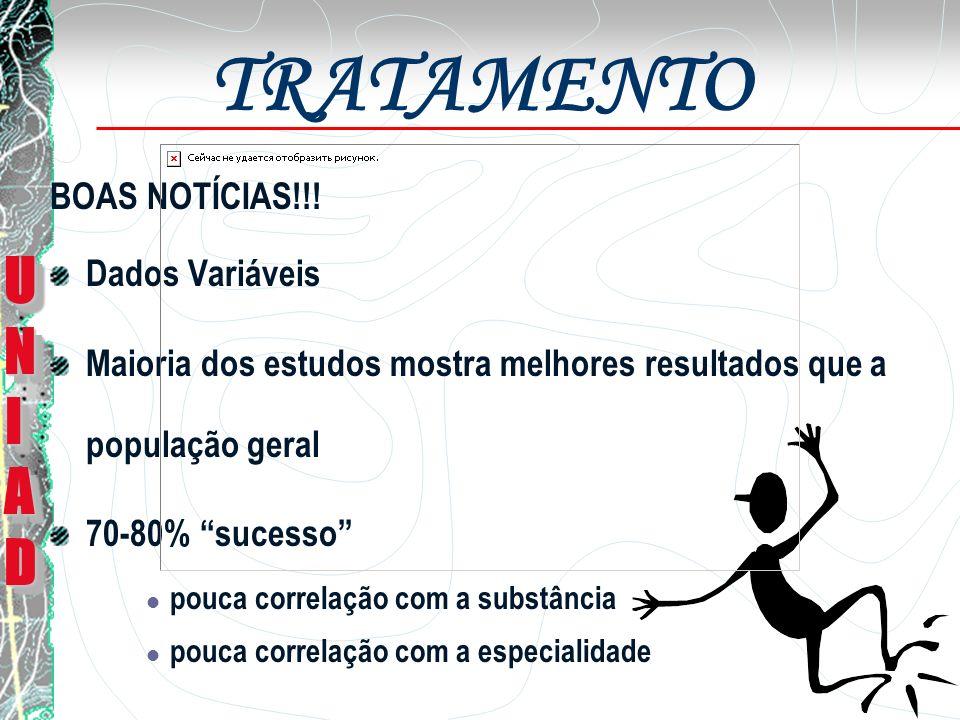 TRATAMENTO UNI AD BOAS NOTÍCIAS!!! Dados Variáveis