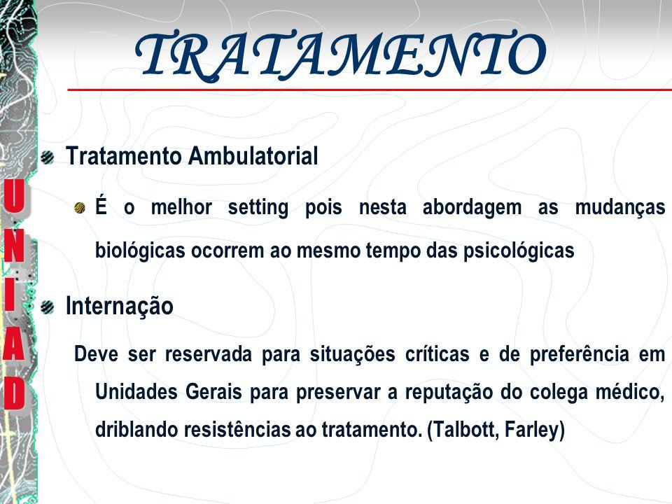 TRATAMENTO UNI AD Tratamento Ambulatorial Internação