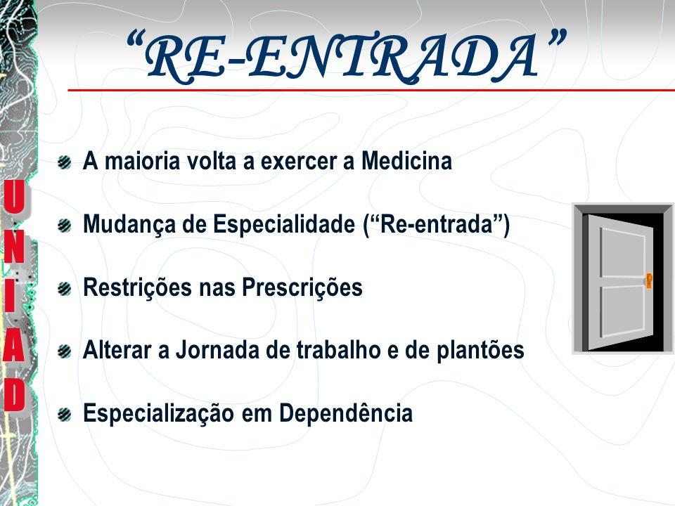 RE-ENTRADA UNI AD A maioria volta a exercer a Medicina
