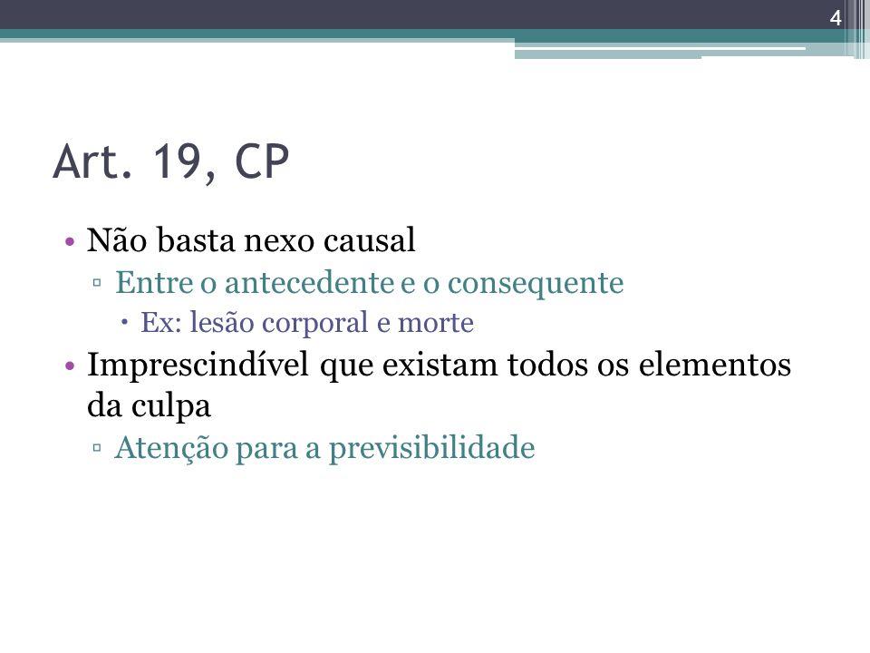 Art. 19, CP Não basta nexo causal