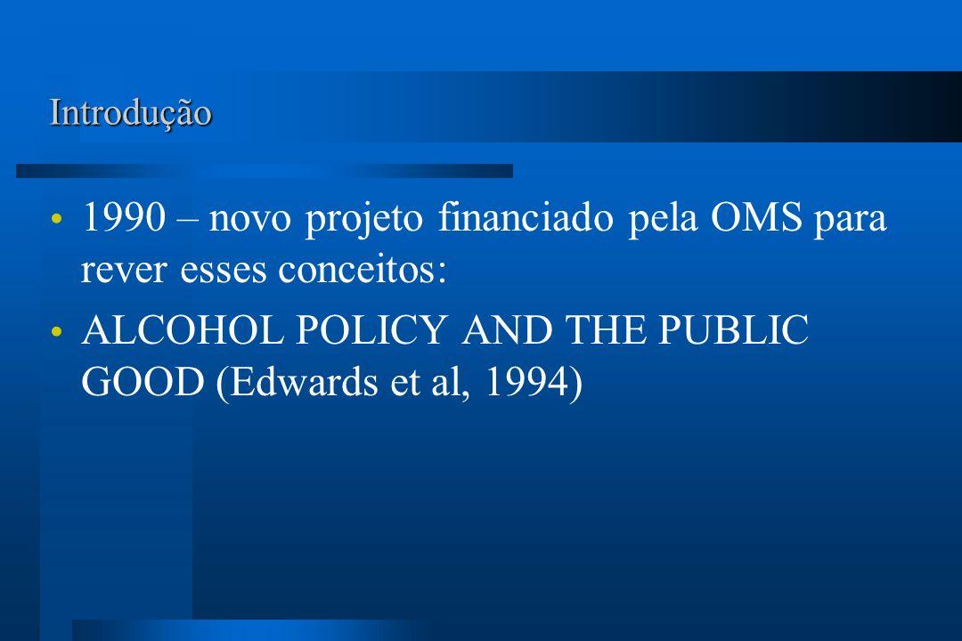 1990 – novo projeto financiado pela OMS para rever esses conceitos: