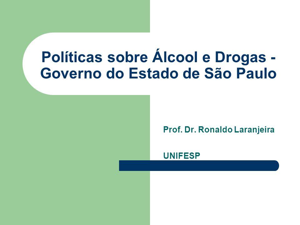 Políticas sobre Álcool e Drogas - Governo do Estado de São Paulo