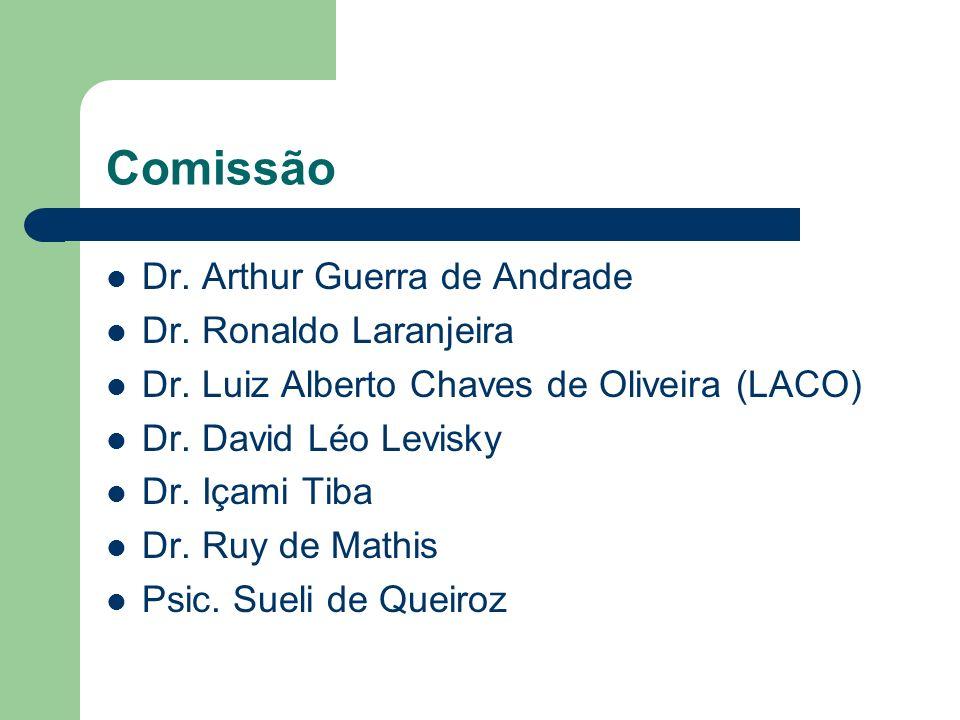 Comissão Dr. Arthur Guerra de Andrade Dr. Ronaldo Laranjeira