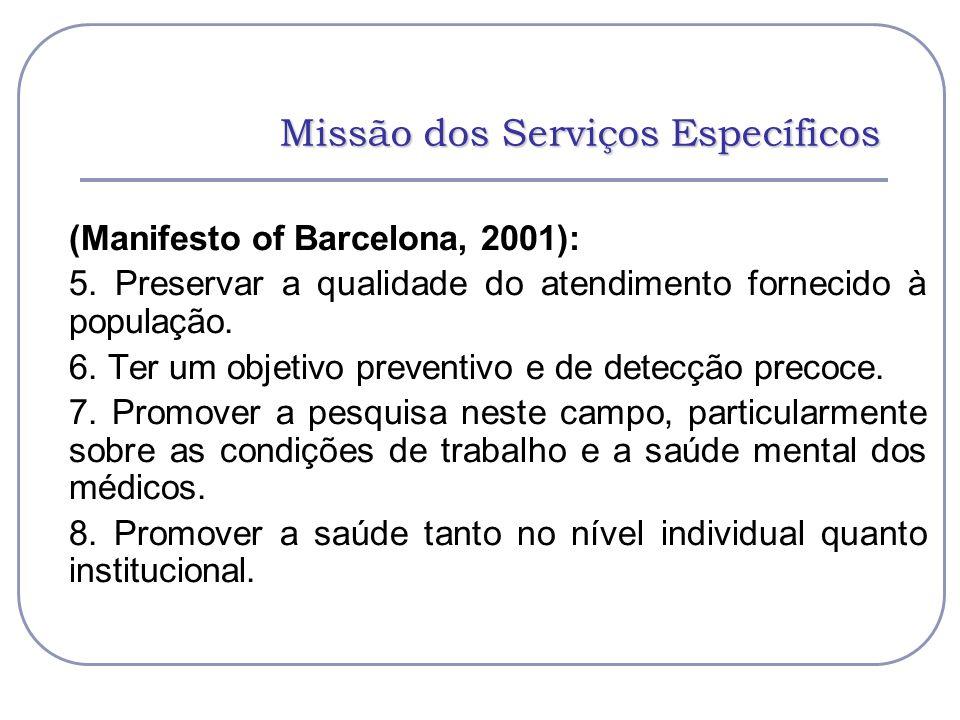 Missão dos Serviços Específicos