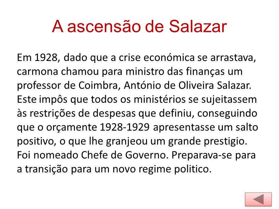 A ascensão de Salazar