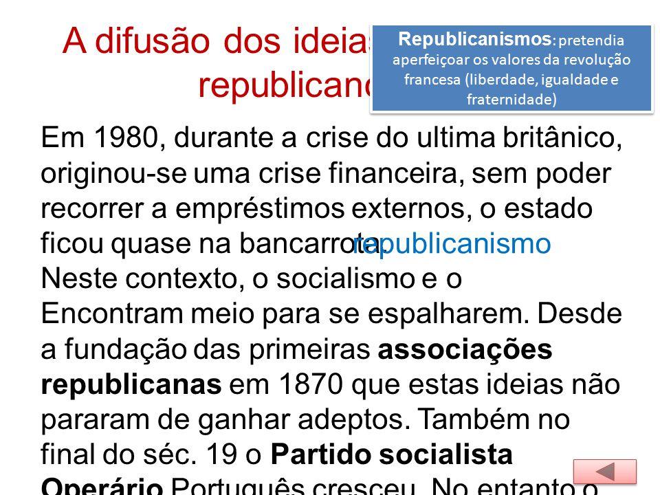 A difusão dos ideias socialistas e republicanos