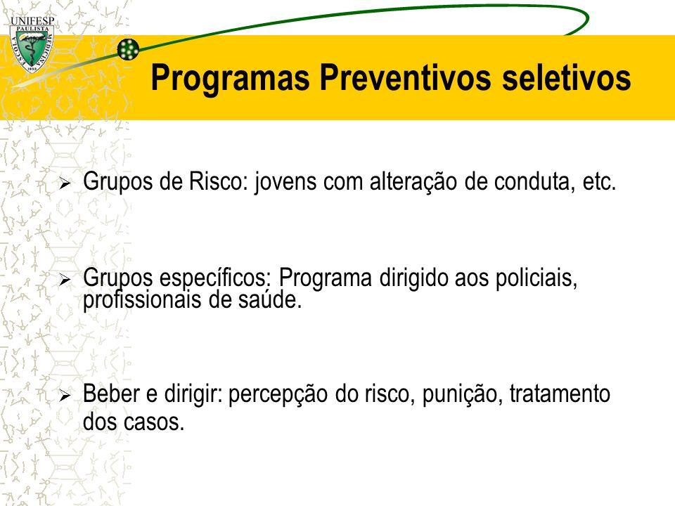 Programas Preventivos seletivos