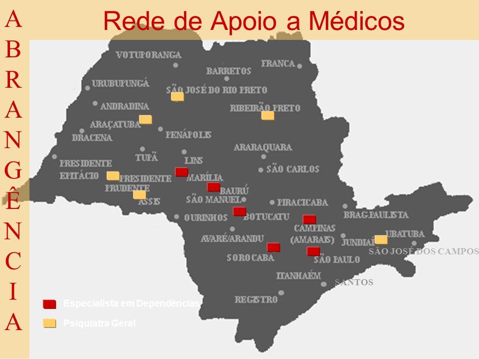 Rede de Apoio a Médicos ABRANGÊNCIA SÃO JOSÉ DOS CAMPOS SANTOS