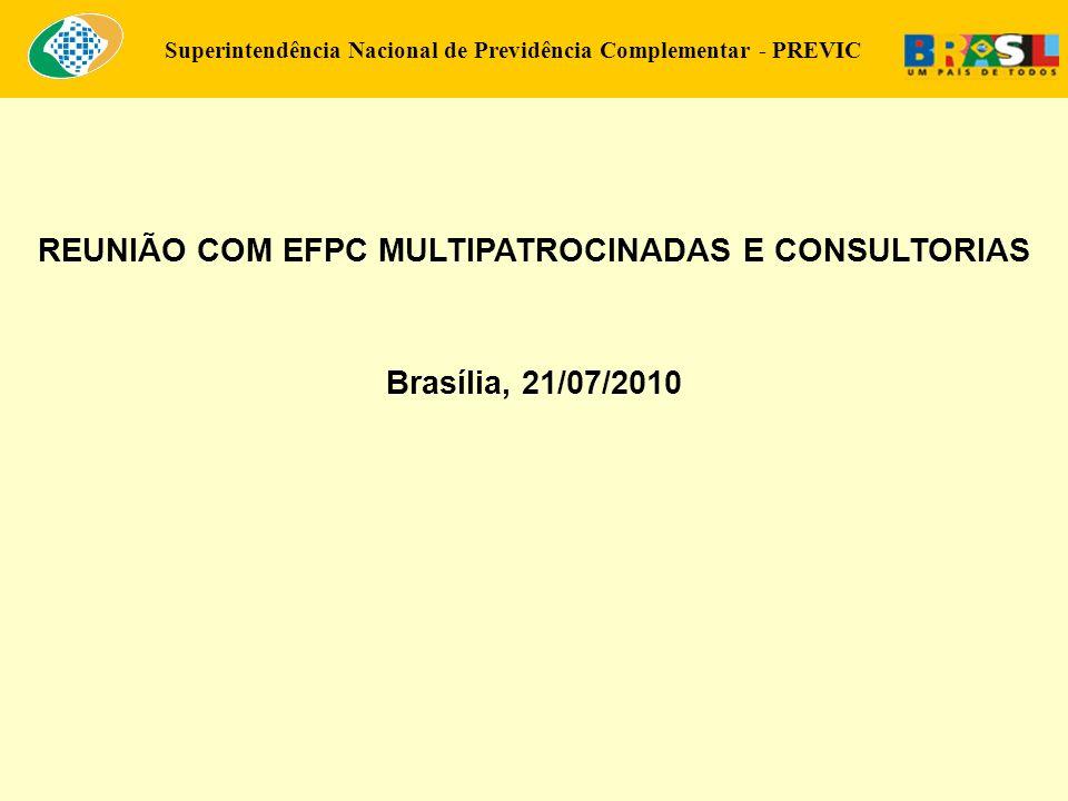 REUNIÃO COM EFPC MULTIPATROCINADAS E CONSULTORIAS