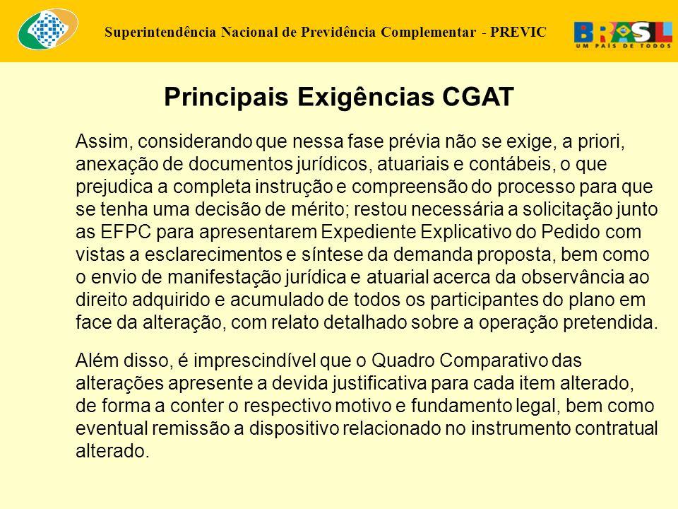 Principais Exigências CGAT