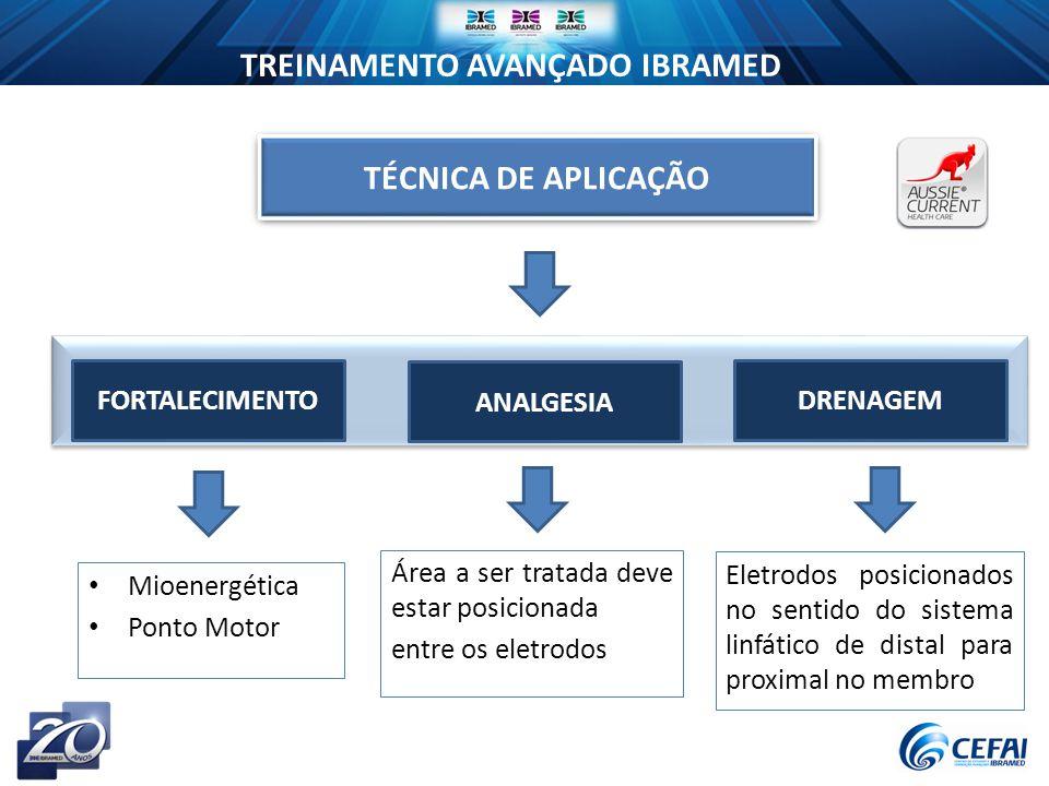 TÉCNICA DE APLICAÇÃO FORTALECIMENTO ANALGESIA DRENAGEM