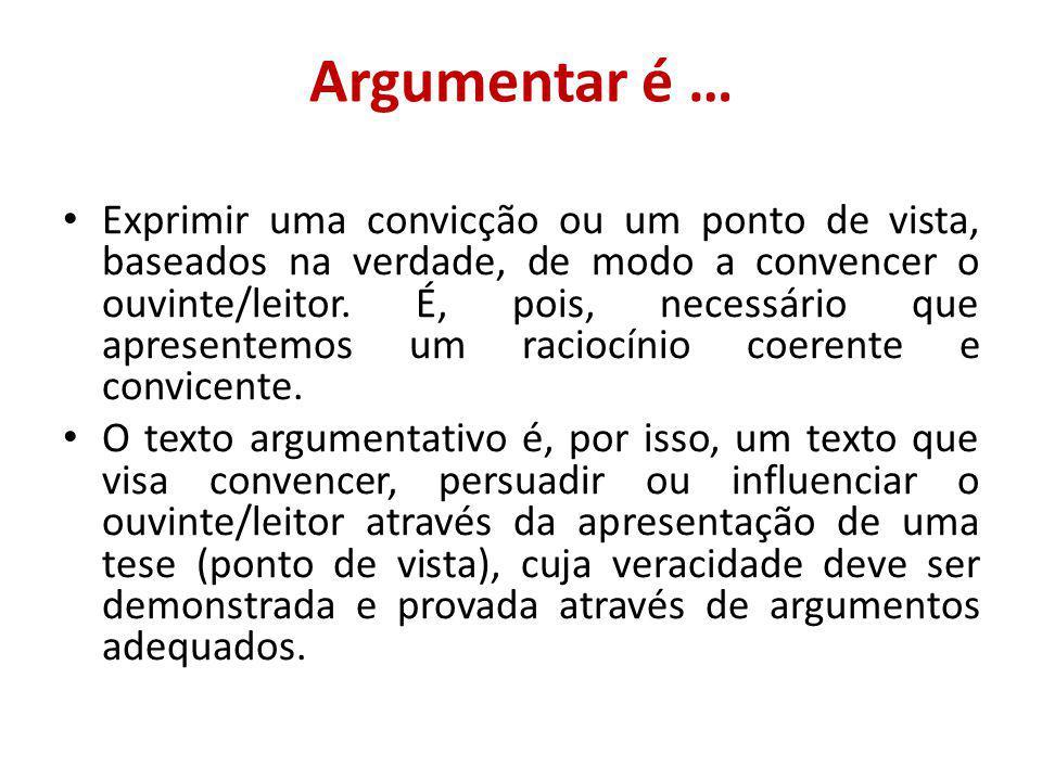 Argumentar é …