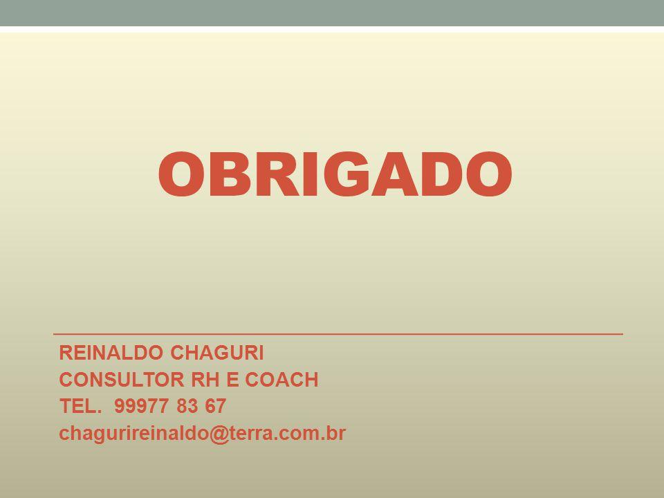 OBRIGADO REINALDO CHAGURI CONSULTOR RH E COACH TEL. 99977 83 67