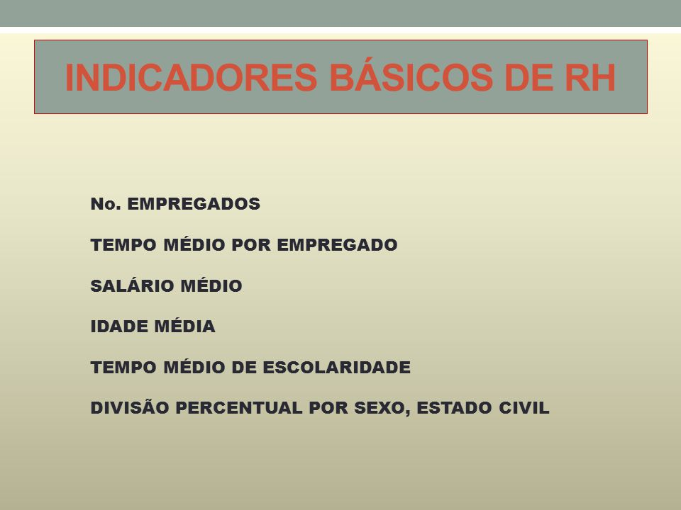 INDICADORES BÁSICOS DE RH