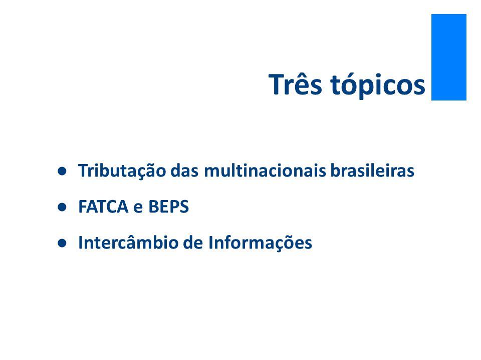 Três tópicos Tributação das multinacionais brasileiras FATCA e BEPS