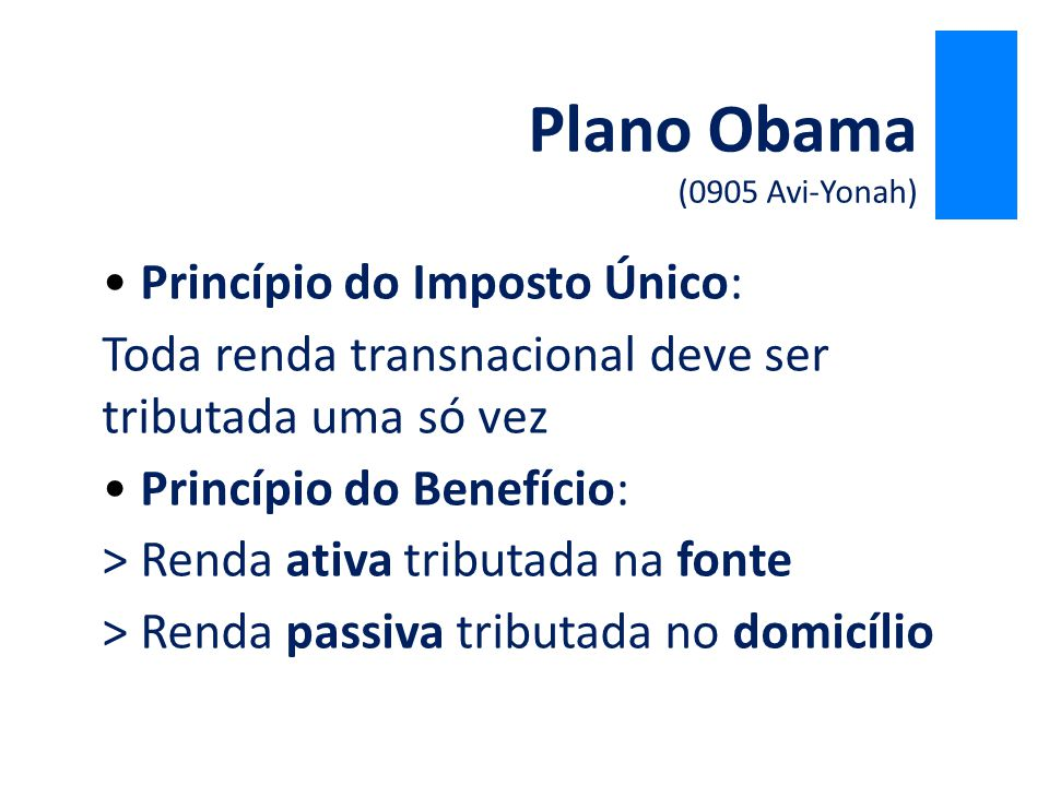 Plano Obama (0905 Avi-Yonah)