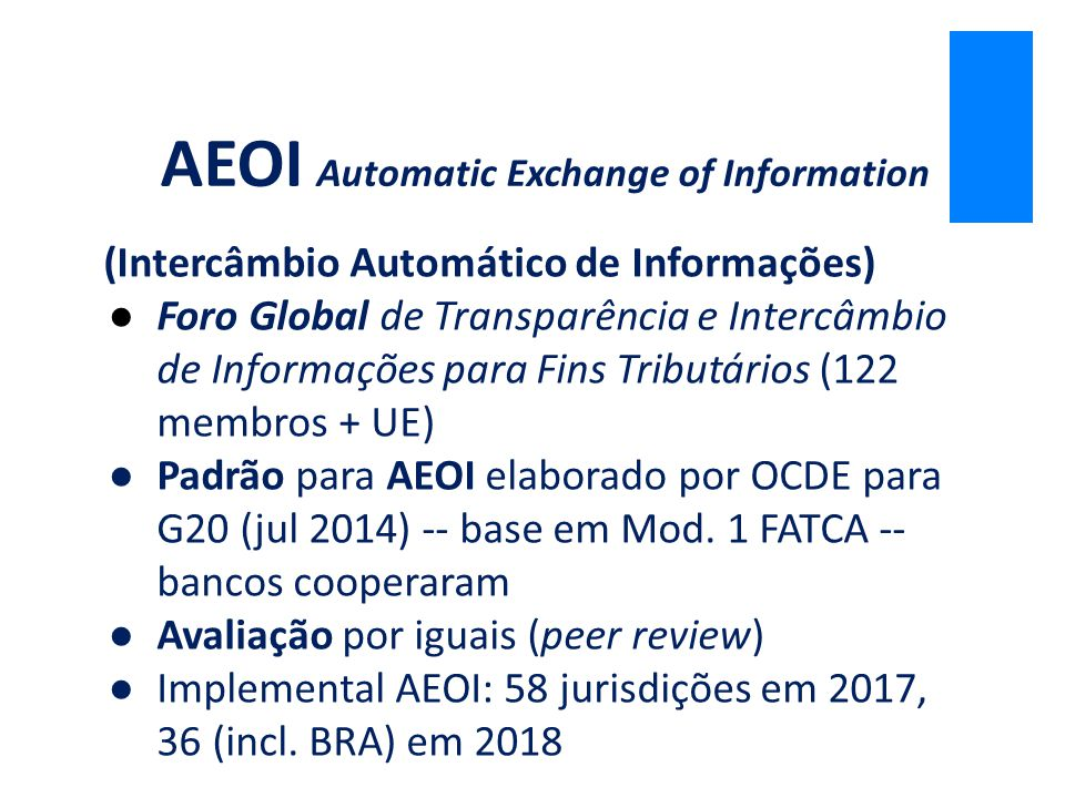 AEOI Automatic Exchange of Information