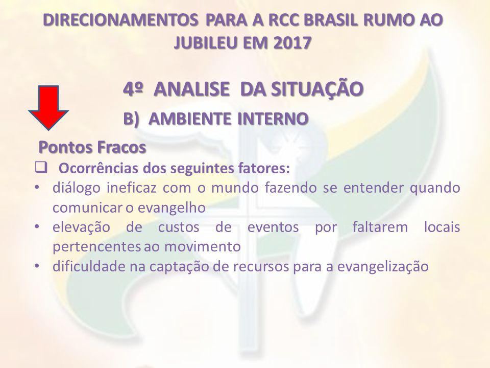 DIRECIONAMENTOS PARA A RCC BRASIL RUMO AO JUBILEU EM 2017