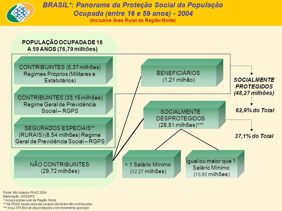 BRASIL*: Panorama da Proteção Social da População