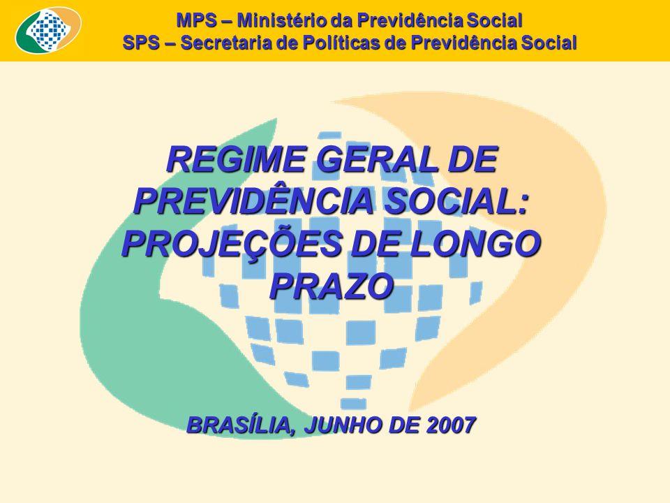 REGIME GERAL DE PREVIDÊNCIA SOCIAL: PROJEÇÕES DE LONGO PRAZO