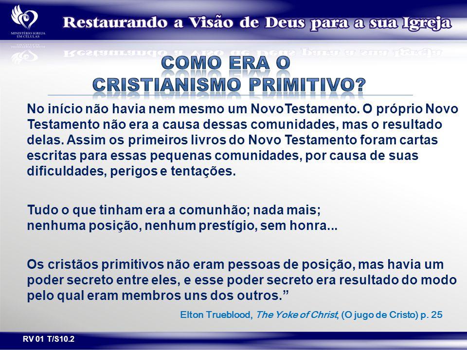 COMO ERA O CRISTIANISMO PRIMITIVO