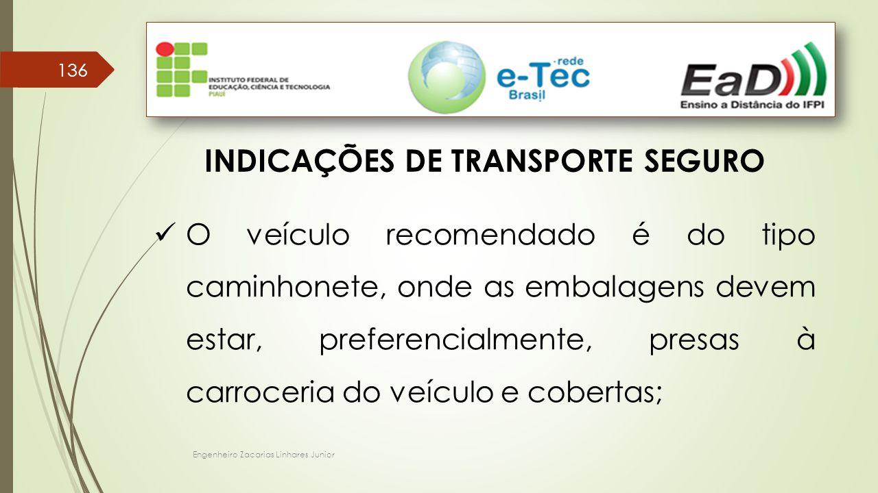 INDICAÇÕES DE TRANSPORTE SEGURO