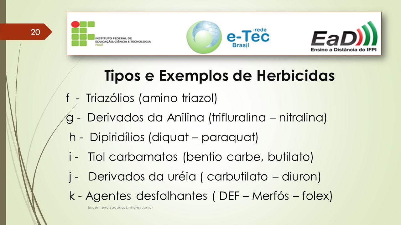 Tipos e Exemplos de Herbicidas