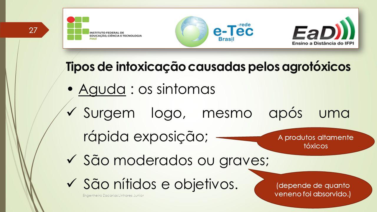Tipos de intoxicação causadas pelos agrotóxicos