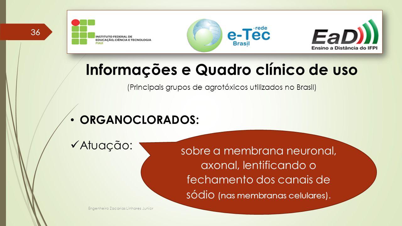 Informações e Quadro clínico de uso