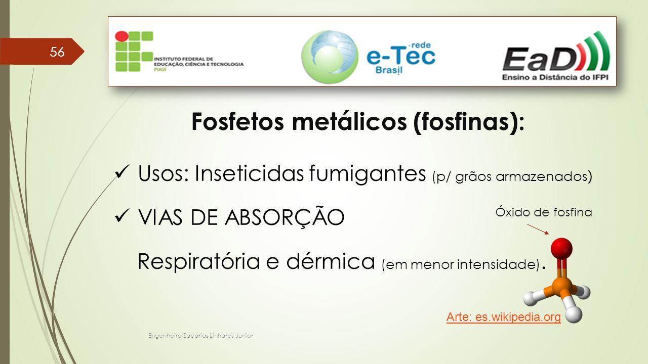 Fosfetos metálicos (fosfinas):