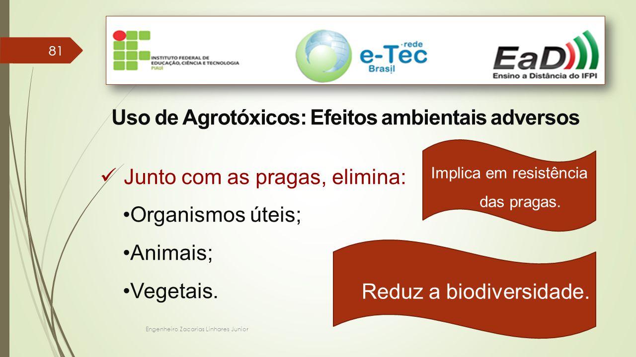 Uso de Agrotóxicos: Efeitos ambientais adversos