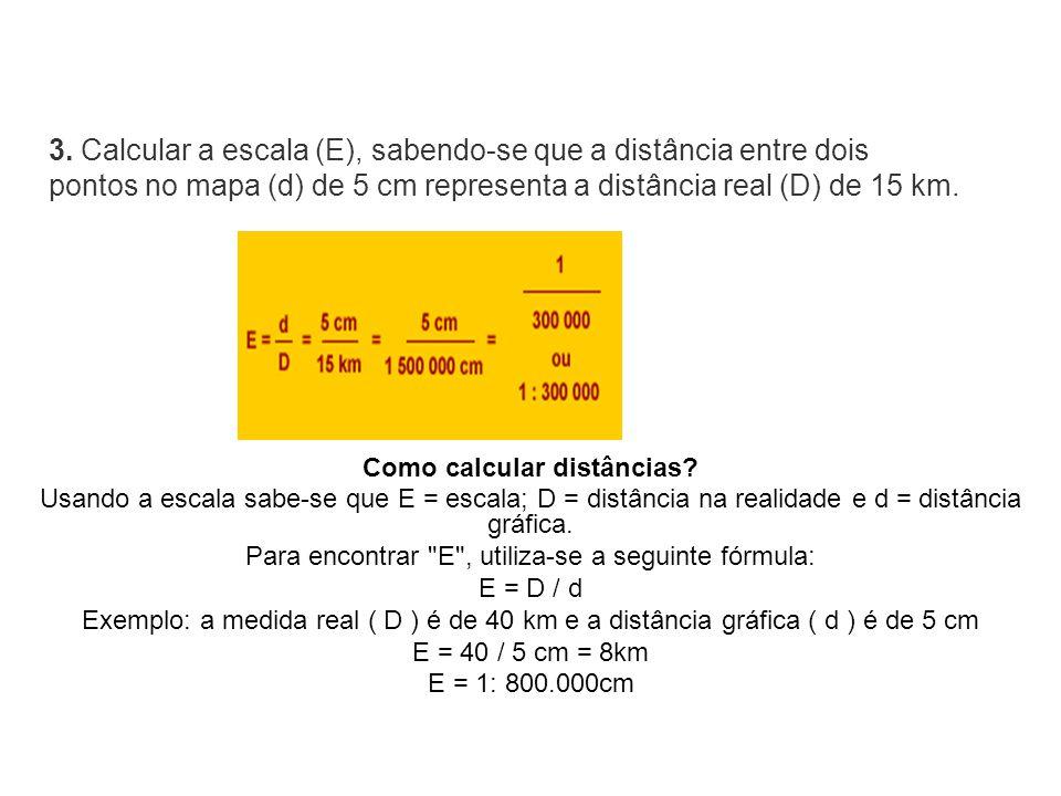 Como calcular distâncias