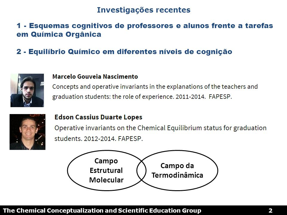 Campo Estrutural Molecular Campo da Termodinâmica