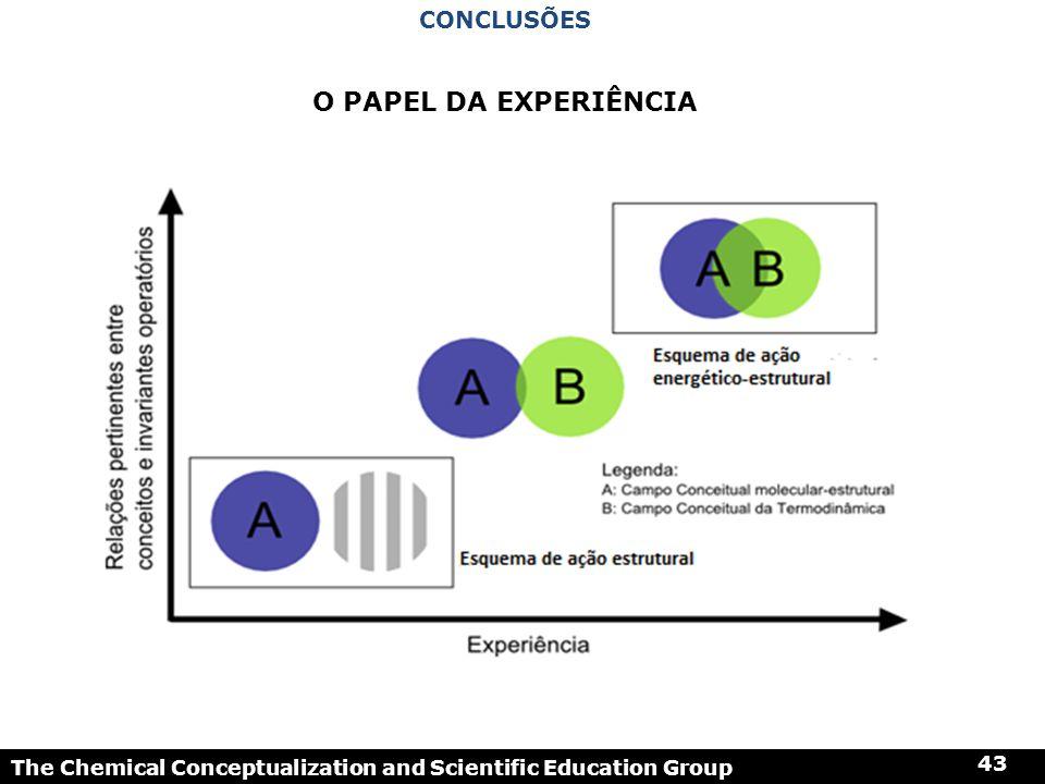 O papel da experiência Conclusões 43