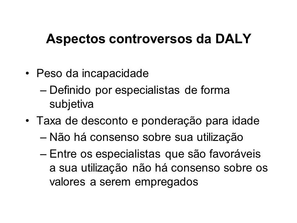 Aspectos controversos da DALY