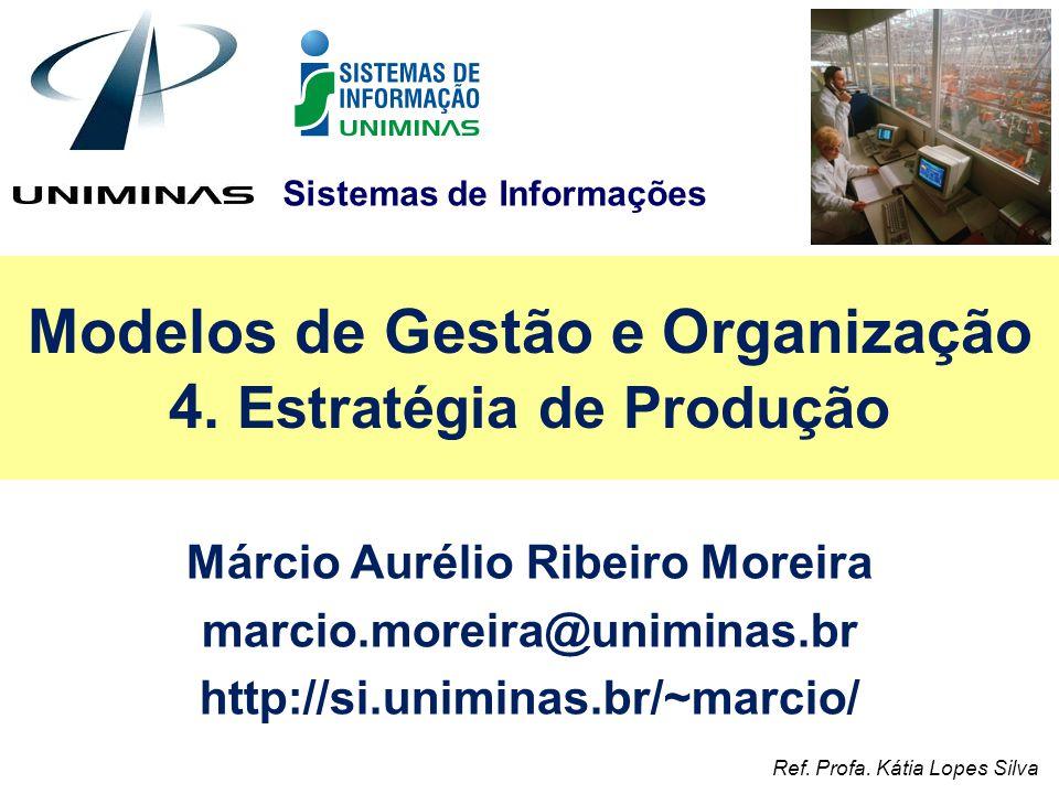 Modelos de Gestão e Organização 4. Estratégia de Produção