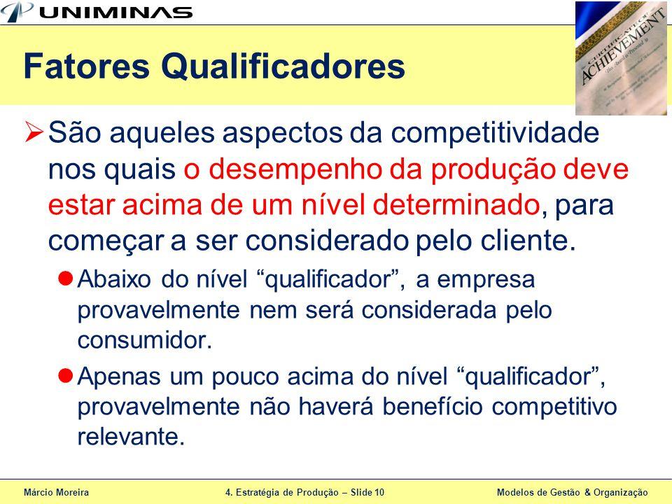 Fatores Qualificadores